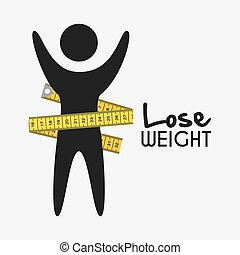 lose weight design - lose weight graphic design , vector...