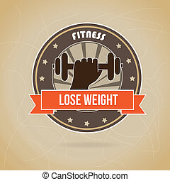lose weight design over brown background vector illustration