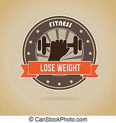 lose weight design over brown background vector illustration