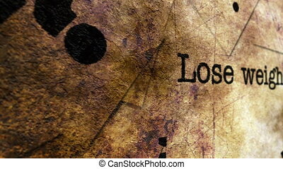 Lose weight grunge concept