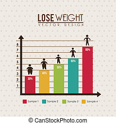 lose weight infographics over dotted background vector...