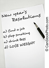 Lose weight - New year resolution lose weight