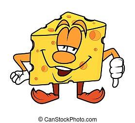Loser - Cartoon Cheese Vector