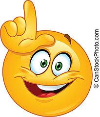 Loser emoticon - Emoticon making the loser sign