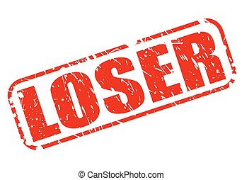 Loser red stamp text