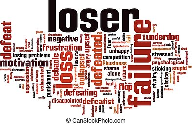 Loser word cloud concept. Vector illustration