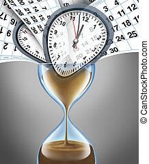 Losing Time - Losing time business concept for important...