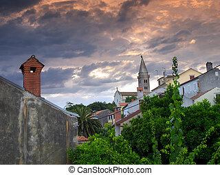 Losinj church - View of the local church in Mali Losinj, ...