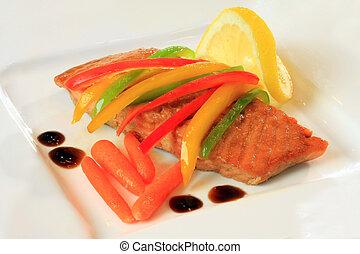 losos, oběd