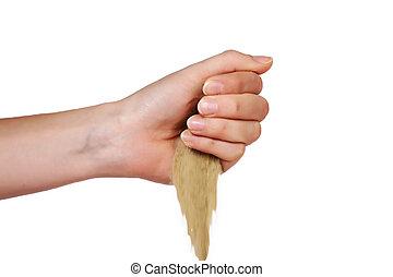 loss hand desert sand