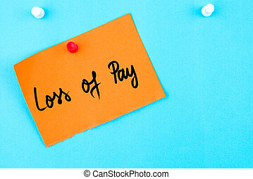 Pay as you go written on orange paper note pinned on cork