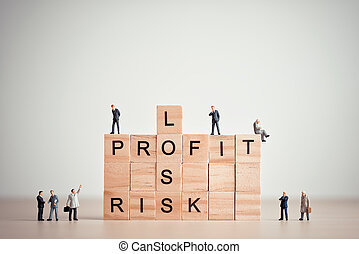 Loss, profit and risk. Business concept