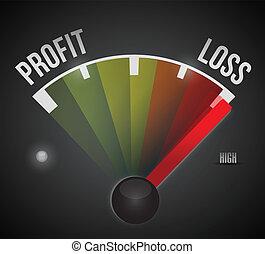 losses concept illustration design diagram