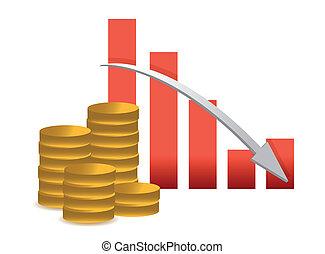 lossing, concept, succès financier