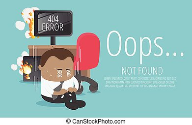 Lost computer of African businessman about page not found Error 404