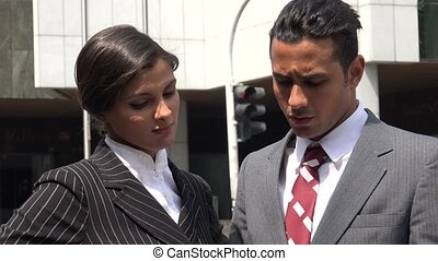 Lost  Confused Business Man  Helpful Woman
