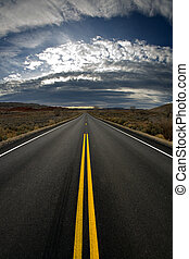 lost highway - vertical version - highway at dusk - vertical...