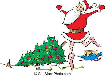 lost in dancing santa claus - demolished christmas, merry...