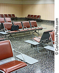 Lost luggage - Example of lost luggage in airport with pc...