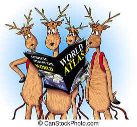 Lost Reindeer - These deer need some directions.