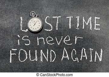 lost time is never found again interpretation with vintage...