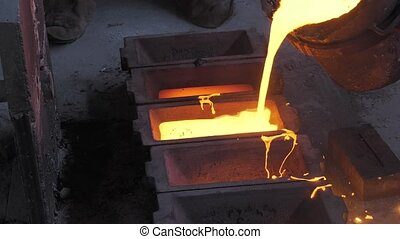 Lost wax bronze casting - ingot casting with unused metal