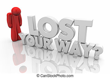 Lost Your Way Question Words 3d Illustration