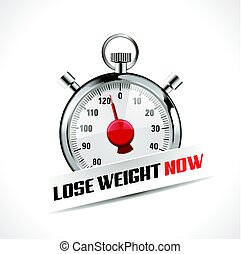 Lost your weight concept - stopwatch as  body weight scales