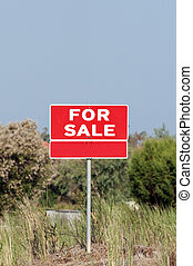 Lot for sale - real estate concept