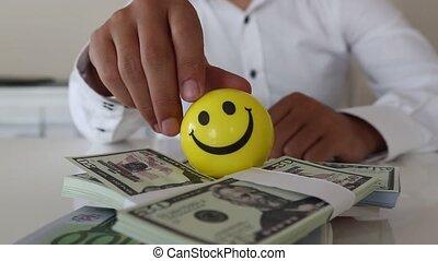 &, lot, heureux, richesse, argent, icône