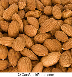 Lot of almonds
