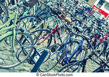 Lot of bikes in Sweden