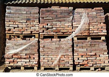bricks at the construction site