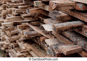 lot of cut wood
