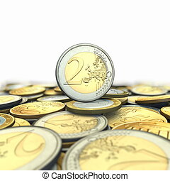 Lot of euro coins - Background from euro coins
