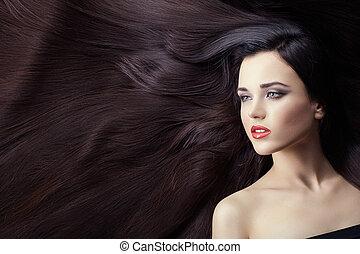 Lot of hair in women.