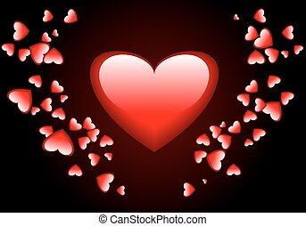 lot of hearts for Valentines Day