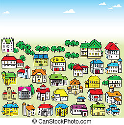 lot of houses