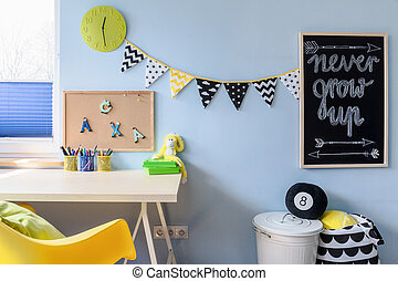 Lot of space to express thoughts - Learning area in a child ...