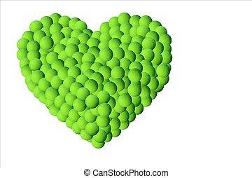 Lot of tennis balls