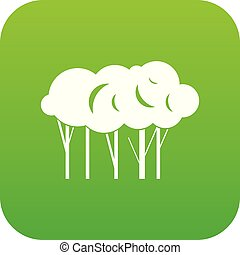 Lot of trees icon digital green