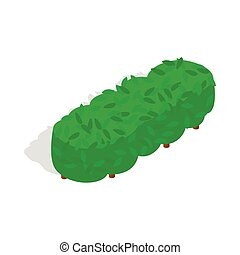 Lot of trees icon, isometric 3d style