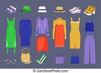 Lot of Varied Colorful Stuff Vector Illustration
