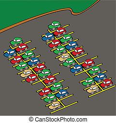 lot, stationnement
