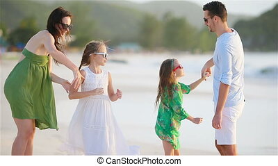 lot, vacances famille, jeune, amusez-vous
