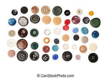 lotes, botões