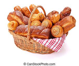lotes, de, dulce, panadería, productos
