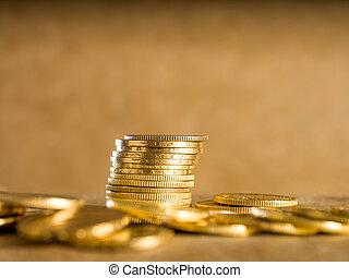 lotes, de, monedas de oro