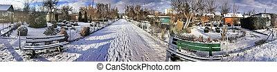 lotes, invierno, nevoso