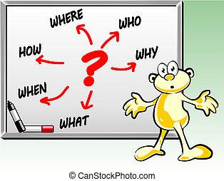 lotes, whiteboard, perguntas